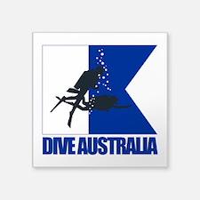 Dive Australia (blue) Sticker