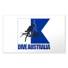 Dive Australia (blue) Decal