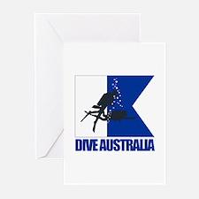 Dive Australia (blue) Greeting Cards (Pk of 10)