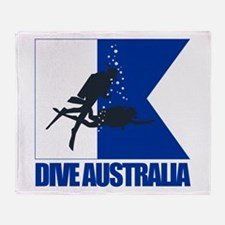 Dive Australia (blue) Throw Blanket