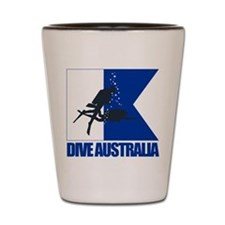 Dive Australia (blue) Shot Glass