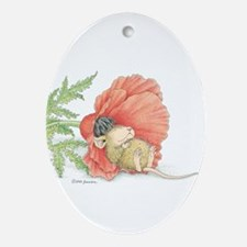 Poppy Cot Ornament (Oval)
