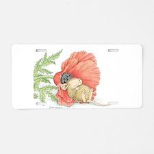 Poppy Cot Aluminum License Plate