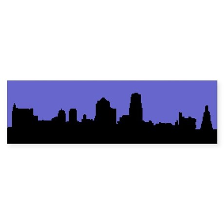 Kansas City Skyline Bumper Sticker No Caption