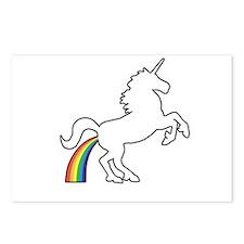 Unicorn Rainbow Poo Postcards (Package of 8)