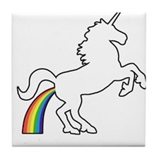 Unicorn Rainbow Poo Tile Coaster
