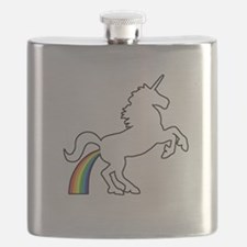 Unicorn Rainbow Poo Flask