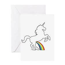 Unicorn Rainbow Wee Greeting Card