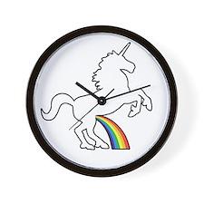 Unicorn Rainbow Wee Wall Clock
