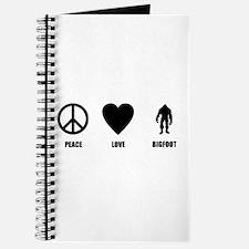 Peace Love Bigfoot Journal