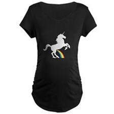 Unicorn Rainbow Wee Maternity T-Shirt
