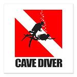 Cave Diver (blk) Square Car Magnet 3