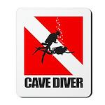 Cave Diver (blk) Mousepad