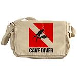 Cave Diver (blk) Messenger Bag