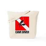 Cave Diver (blk) Tote Bag