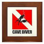 Cave Diver (blk) Framed Tile