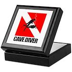 Cave Diver (blk) Keepsake Box