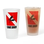 Cave Diver (blk) Drinking Glass