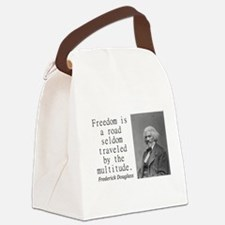 Freedom Is A Road Canvas Lunch Bag