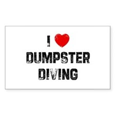 I * Dumpster Diving Rectangle Decal