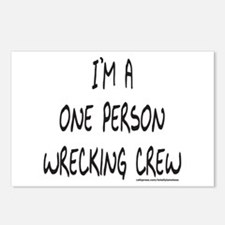 ONE PERSON WRECKING CREW Postcards (Package of 8)