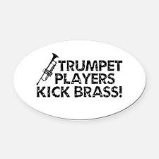 Kick Brass Oval Car Magnet