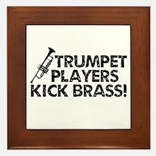 Kick Brass Framed Tile
