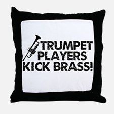 Kick Brass Throw Pillow