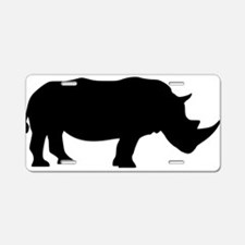 Cute Rhino Aluminum License Plate