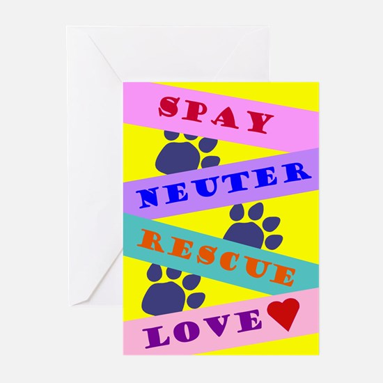 Spay, Rescue, Love, Greeting Cards (Pk of 10)