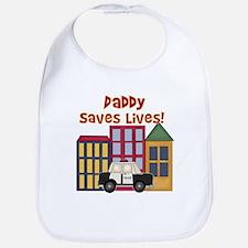Police-Daddy Saves Lives Bib
