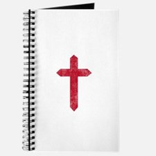 Pretty red christian cross 3 U L Journal