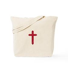 Pretty red christian cross 3 U L Tote Bag