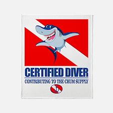 Certified Diver Throw Blanket