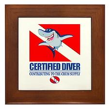 Certified Diver Framed Tile