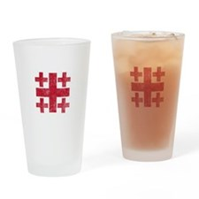 Pretty red christian cross 3 U P Drinking Glass