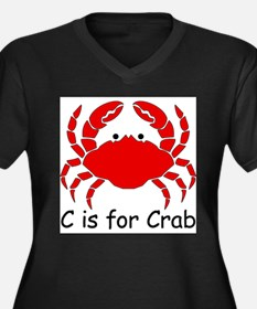 C is for Crab Plus Size T-Shirt