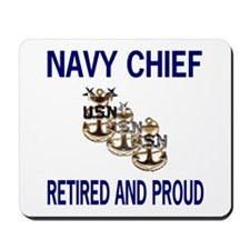 Retired Navy Master Chief Mouse Pad