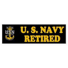 Retired Master Chief Bumper Car Sticker
