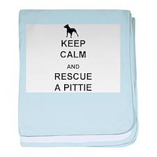 Rescue a Pittie baby blanket