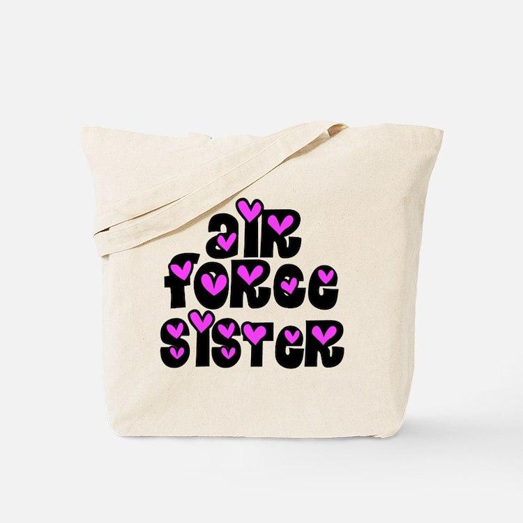 AF Sister Pink Hearts Tote Bag