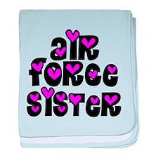 AF Sister Pink Hearts baby blanket