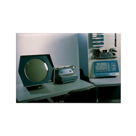 DEC PDP-1 computer - Rectangle Magnet (100 pk)