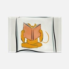 Reading Cat (R) Rectangle Magnet