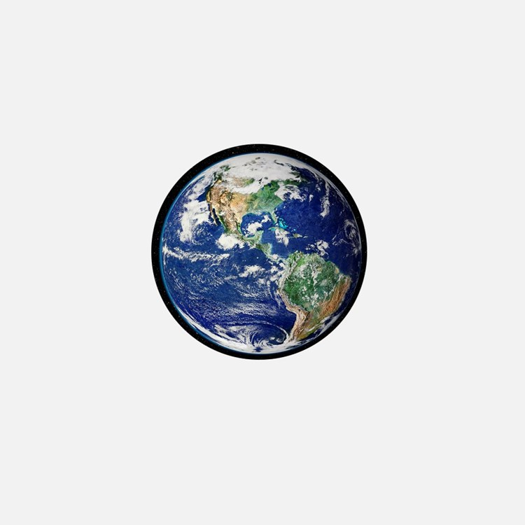 Earth from space, satellite image - Mini Button