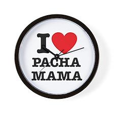 i love pachamama Wall Clock