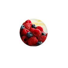 Blueberries and raspberries - Mini Button