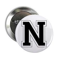 """Collegiate Monogram N 2.25"""" Button"""