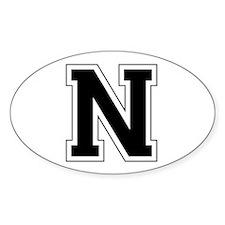 Collegiate Monogram N Decal