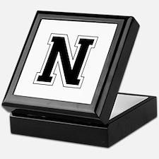 Collegiate Monogram N Keepsake Box